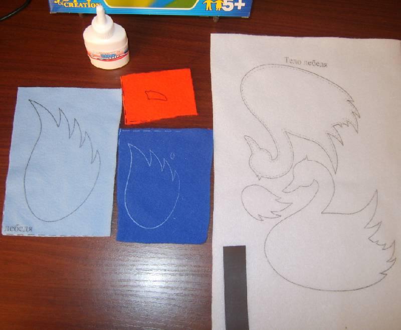 Иллюстрация 1 из 6 для Аппликация Лебедь (Рк-048) | Лабиринт - игрушки. Источник: Tatka