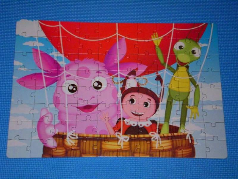 """Иллюстрация 1 из 3 для Пазл-80. """"Лунтик и его друзья на воздушном шаре"""" (44113)   Лабиринт - игрушки. Источник: Дашина мама"""