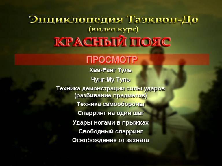 Иллюстрация 1 из 5 для Энциклопедия  таэквон-до: Красный пояс (DVD) - Денис Попов-Толмачев | Лабиринт - видео. Источник: DeadNK