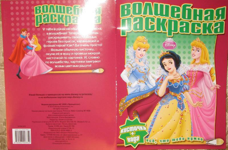 """Иллюстрация 1 из 10 для Водная раскраска """"Принцесса"""" (№1009)   Лабиринт - книги. Источник: Labetty"""