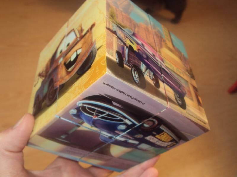 """Иллюстрация 1 из 16 для Магнитные кубики-пазлы """"Тачки"""" (8 кубиков, 12 пазлов) (14389)   Лабиринт - игрушки. Источник: Ипатова Елена"""