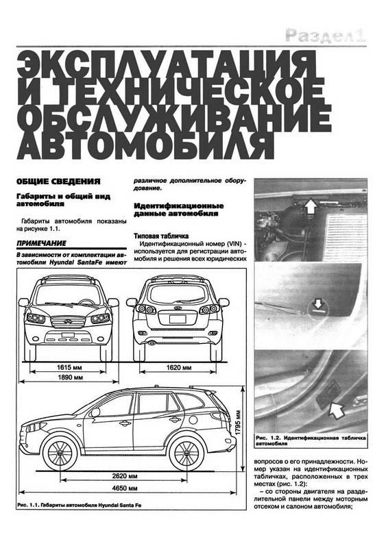 Иллюстрация 1 из 10 для Автомобиль Hyundai Santa Fe: Руководство по эксплуатации, техническому обслуживанию и ремонту | Лабиринт - книги. Источник: Ялина