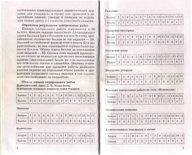 решебник к тестам по химии