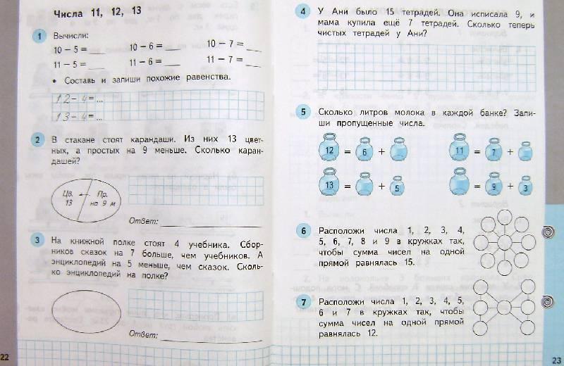 тетрадь рабочая класс решебник математика 2 башмаков 1
