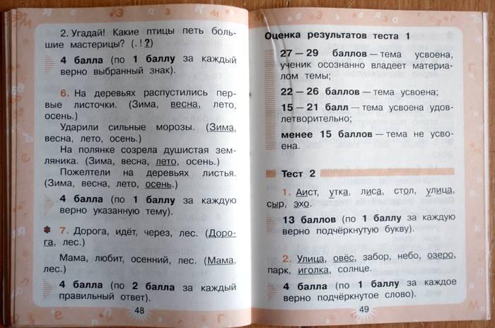 гдз перспектива 3 класс русский язык проверочные работы