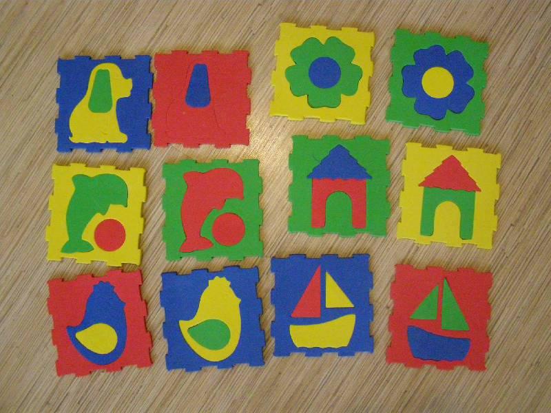 Иллюстрация 1 из 2 для Мозаика. Коврик с силуэтами. 12 шт. (053212)   Лабиринт - игрушки. Источник: Непомнящих  Ирина Сергеевна