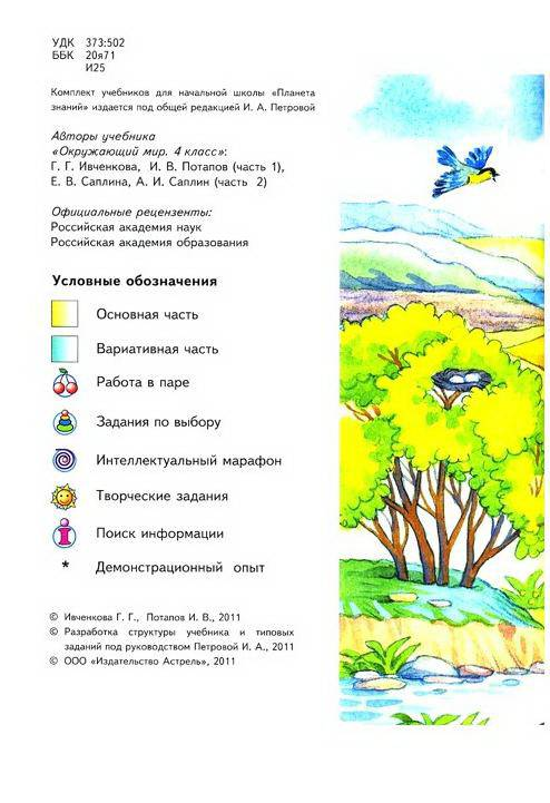 гдз по окружающему миру 1 класс 2 часть ивченкова