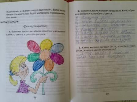 готовый читательский дневник 3 класс