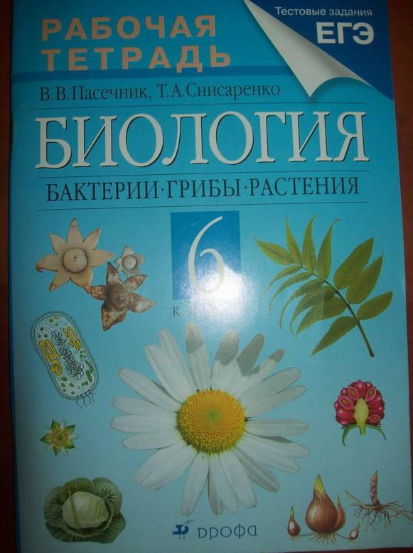 Учебник по биологии 6 класс пасечник в.в