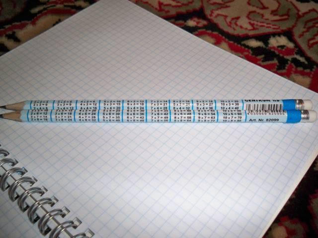 Иллюстрация 1 из 2 для Карандаш чернографитовый 8052-НВ (таблица умножения, с ластиком) | Лабиринт - канцтовы. Источник: Левина  Светлана