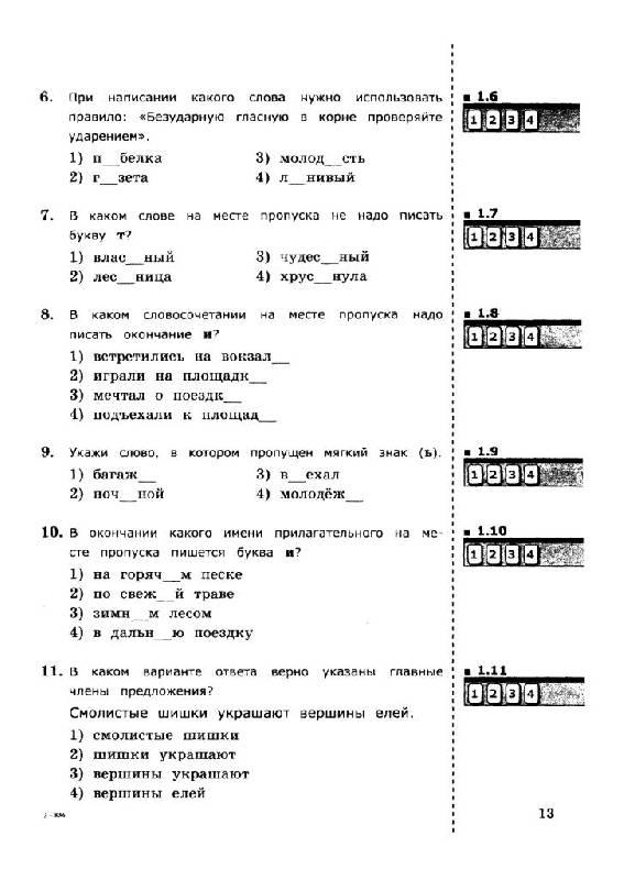Русский язык тесты 11 класс зайчикин