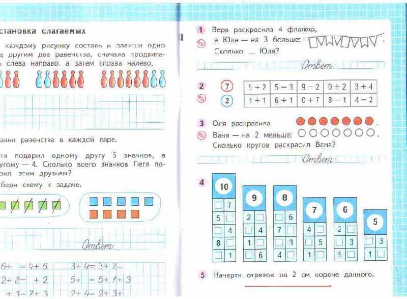Рабочая тетрадь математике 1 класс 1 часть моро