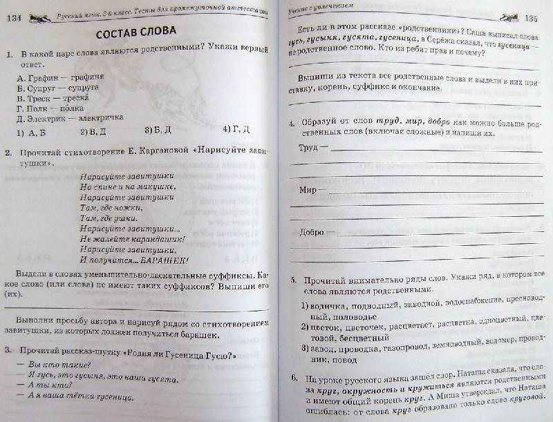 решебник ао русскому языку тесты для промежуточной аттестации 6 класс