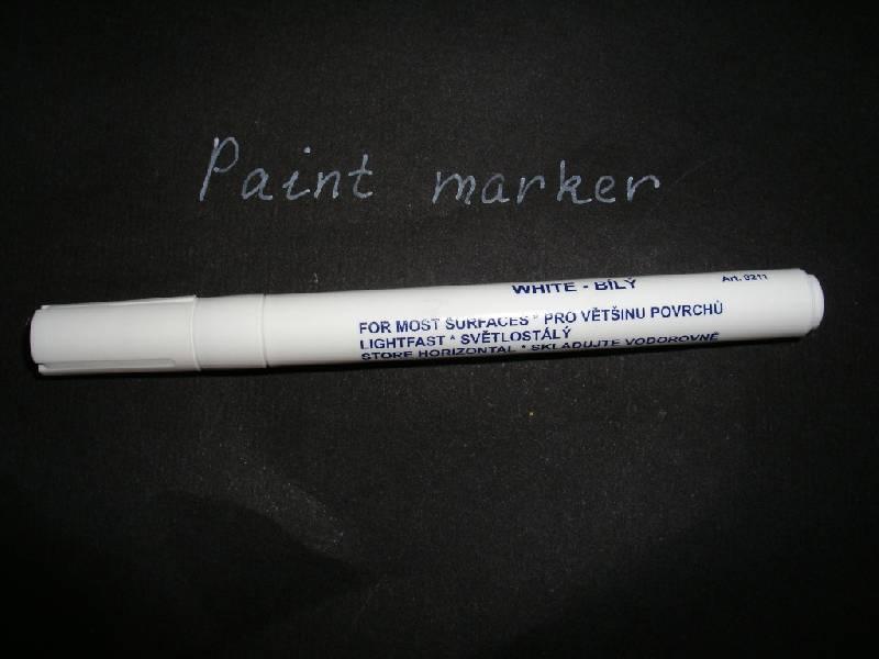 Иллюстрация 1 из 4 для Маркер лаковый для письма белый (9211/1) | Лабиринт - игрушки. Источник: Tiger.
