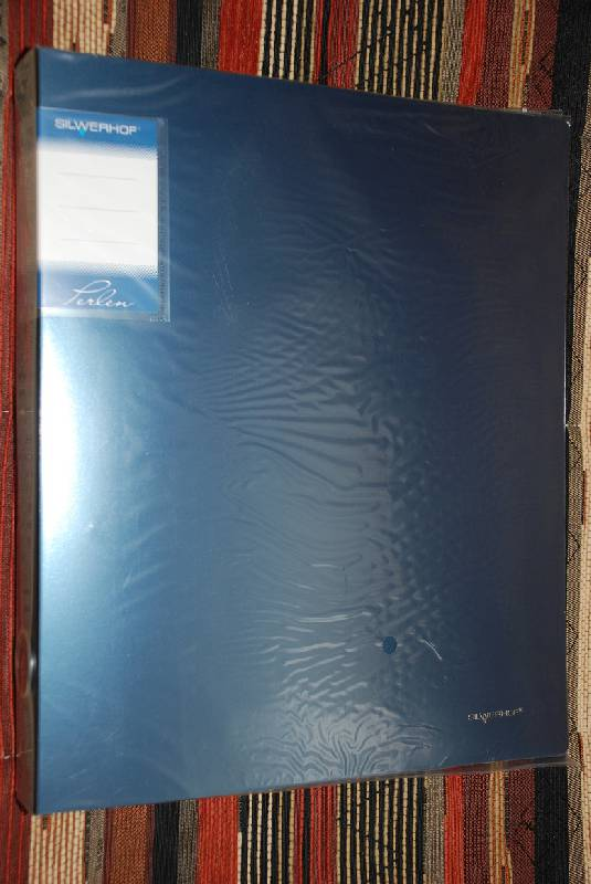 Иллюстрация 1 из 2 для Папка с 4-мя кольцами Perlen голубая (271954-74)   Лабиринт - канцтовы. Источник: Плахина  Ирина