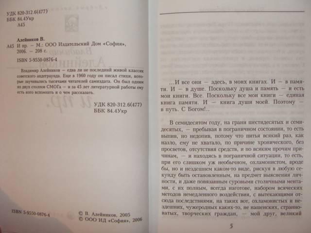 Иллюстрация 1 из 5 для И пр. - Владимир Алейников | Лабиринт - книги. Источник: dragonspy