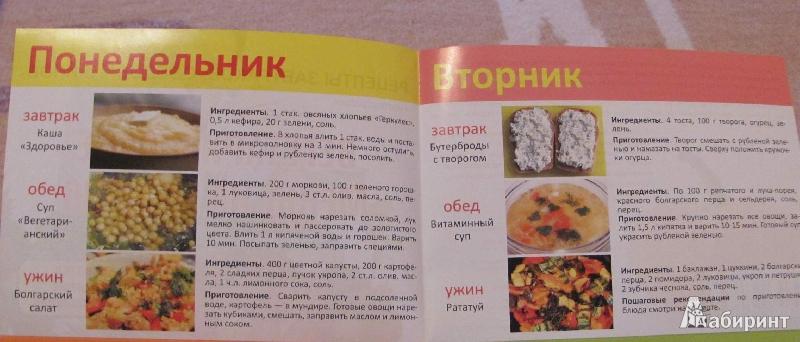 Ксения селезнева меню на неделю