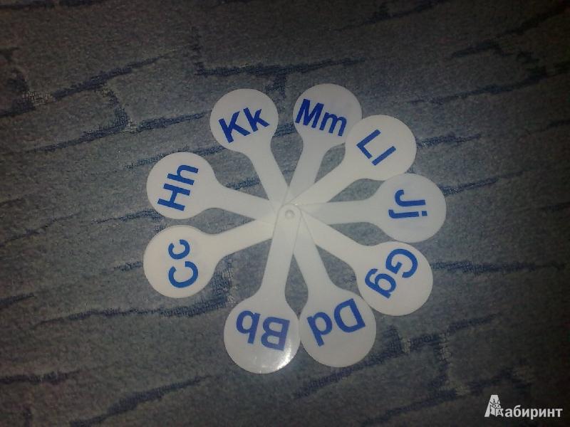 Иллюстрация 1 из 2 для Веер. Согласных букв английского алфавита (АС-1) | Лабиринт - канцтовы. Источник: Портнова  Мария