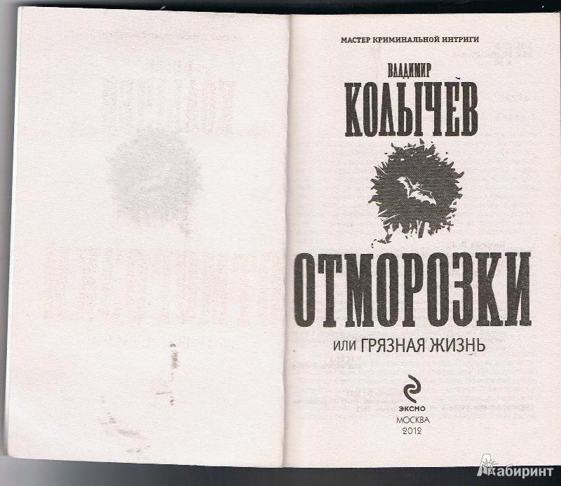 Иллюстрация 1 из 12 для Отморозки, или Грязная жизнь - Владимир Колычев   Лабиринт - книги. Источник: Цветкова  Марина
