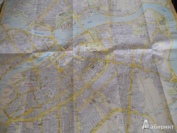 Иллюстрация 1 из 3 для Санкт-Петербург. Туристическая карта города (на русском языке)   Лабиринт - книги. Источник: Buryasha