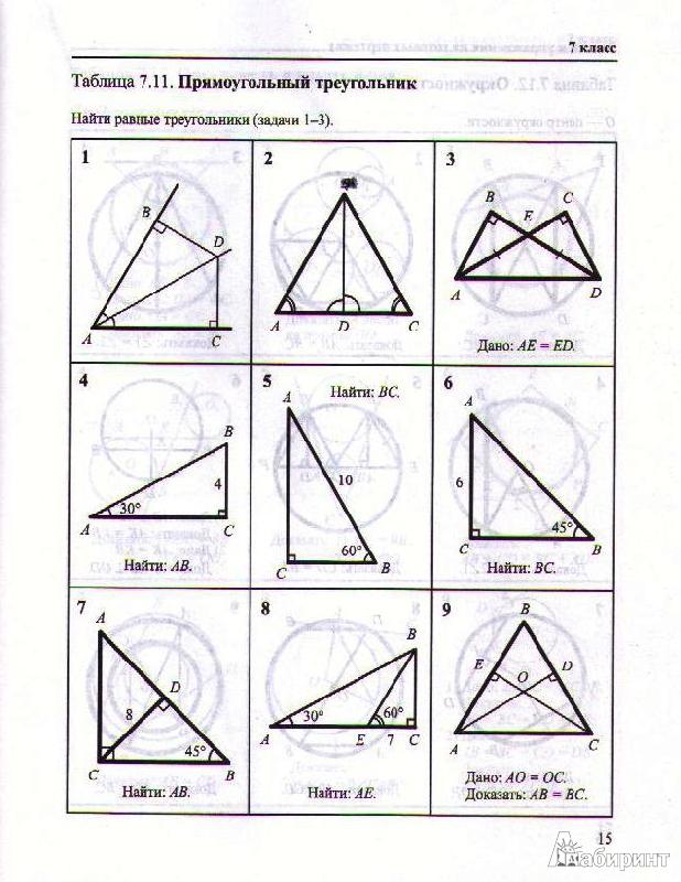 геометрия на чертежах задачи