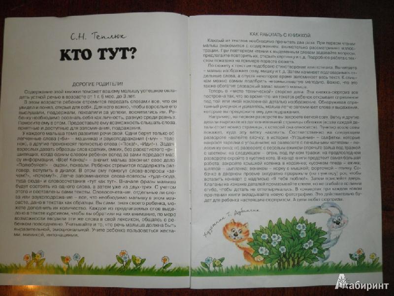 Иллюстрация 1 из 17 для Кто тут? Развитие речи. Для детей 1-3 лет - Светлана Теплюк | Лабиринт - книги. Источник: Ека74