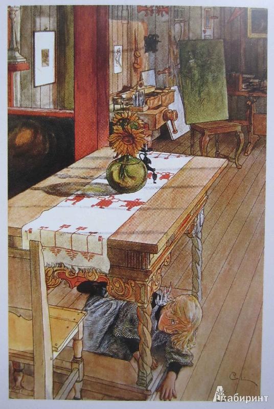 Иллюстрация 1 из 27 для Дом в лучах солнца. Карл Ларссон. На почтовых открытках - Карл Ларссон   Лабиринт - книги. Источник: Кухтарова  Снежана