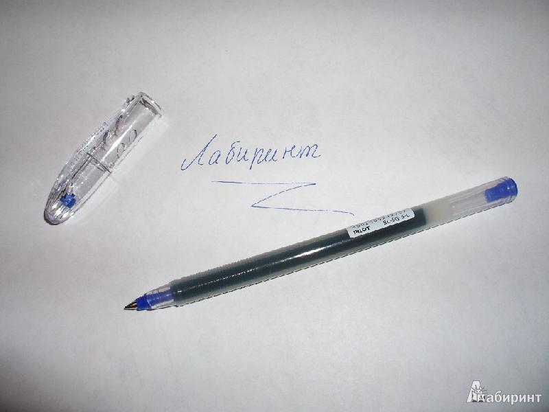 Иллюстрация 1 из 2 для Ручка шариковая Pilot BL-SG-5-L синяя (одноразовая) | Лабиринт - канцтовы. Источник: Tiger.