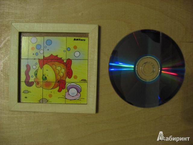 Иллюстрация 1 из 6 для Рыбка-головоломка в деревянной рамке (Ли-012) | Лабиринт - игрушки. Источник: ТанюшаК