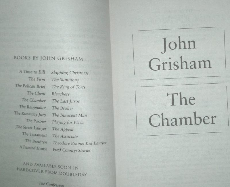 Иллюстрация 1 из 5 для The Chamber - John Grisham | Лабиринт - книги. Источник: Леонид Сергеев