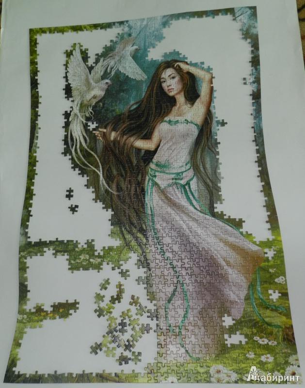 Иллюстрация 1 из 18 для Puzzle-1500. Фэнтези. Девушка с птицами (С-150687)   Лабиринт - игрушки. Источник: Лабиринт