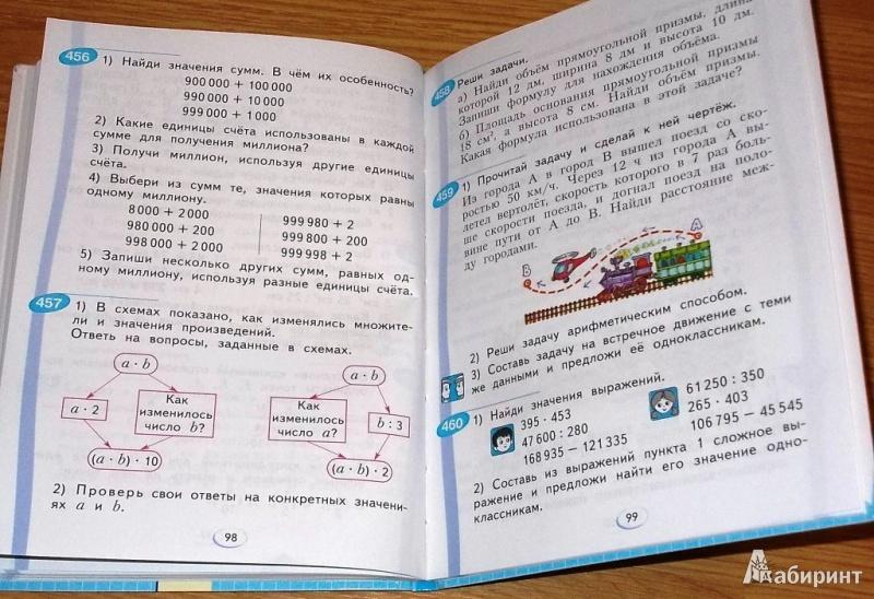 Решебник по математике 4 класс и.и аргинская