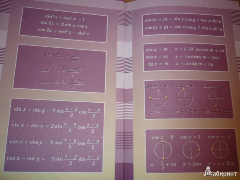 Иллюстрация 9 из 39 для алгебра и начала математического анализа.