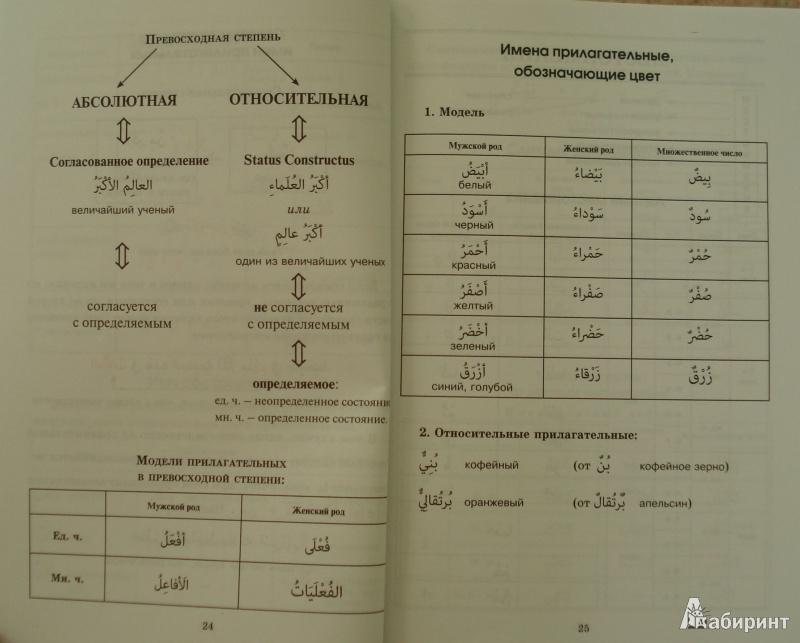 Арабская грамматика в таблицах и схемах читать