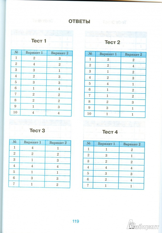 решебник тестов по математике 5 класс