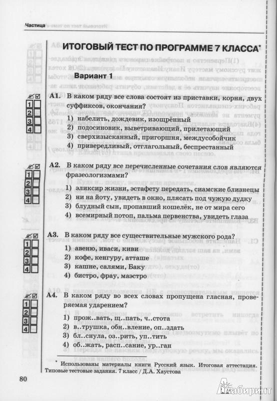 Упражнения по русскому языку для 7 класса по лексике