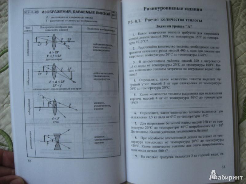 гдз по физике марон опорные конспекты и разноуровневые задания