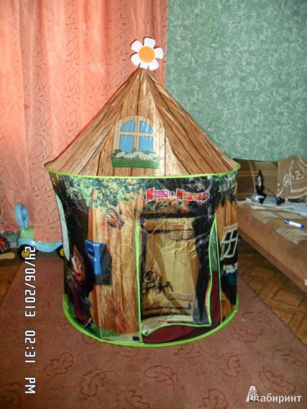 """Иллюстрация 1 из 6 для Палатка """"Маша и Медведь"""" в сумке, 104х135 см (GT5509)   Лабиринт - игрушки. Источник: Юлия Рой(Вишневецкая)"""