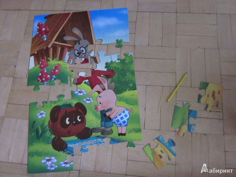 """Иллюстрация 1 из 4 для Step Puzzle-35 MAXI """"Винни-Пух"""" (91306)   Лабиринт - игрушки. Источник: Мeдвeдицa"""