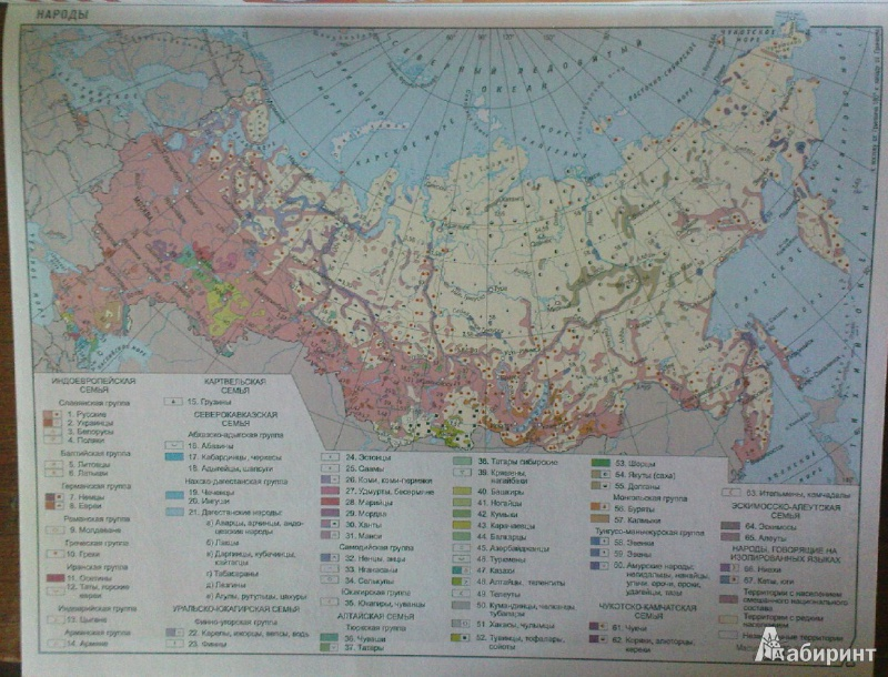 География. Россия: природа, население, хозяйство. Атлас. 8-9.