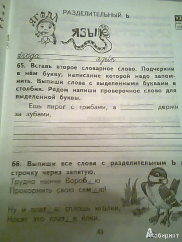 Гдз по русскому языку 2 класс пнш рабочая тетрадь 2 часть