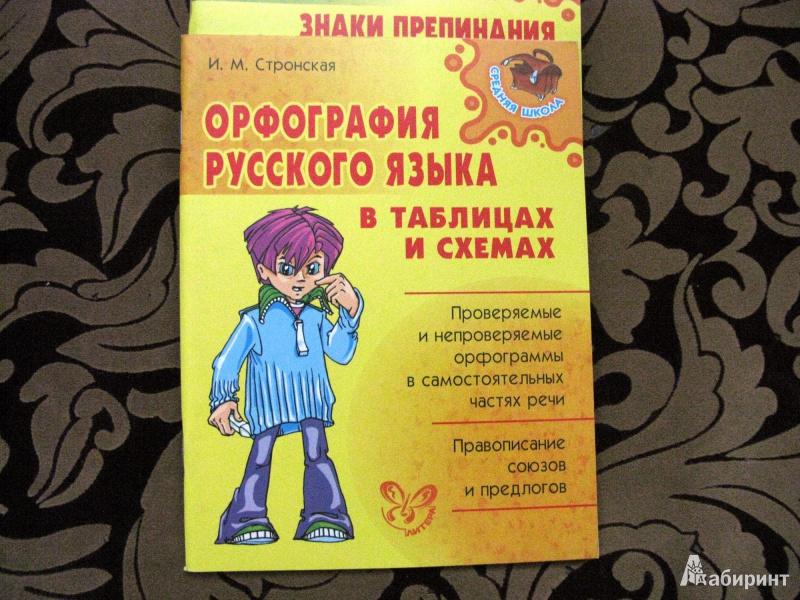 Иллюстрация 1 из 5 для Орфография русского языка в таблицах и схемах - Ирина Стронская | Лабиринт - книги. Источник: Nairina