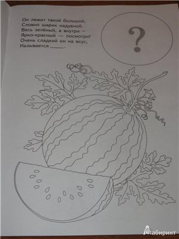 """Книга: """"Раскраска с наклейками """"Веселый огород"""" (29912 ..."""