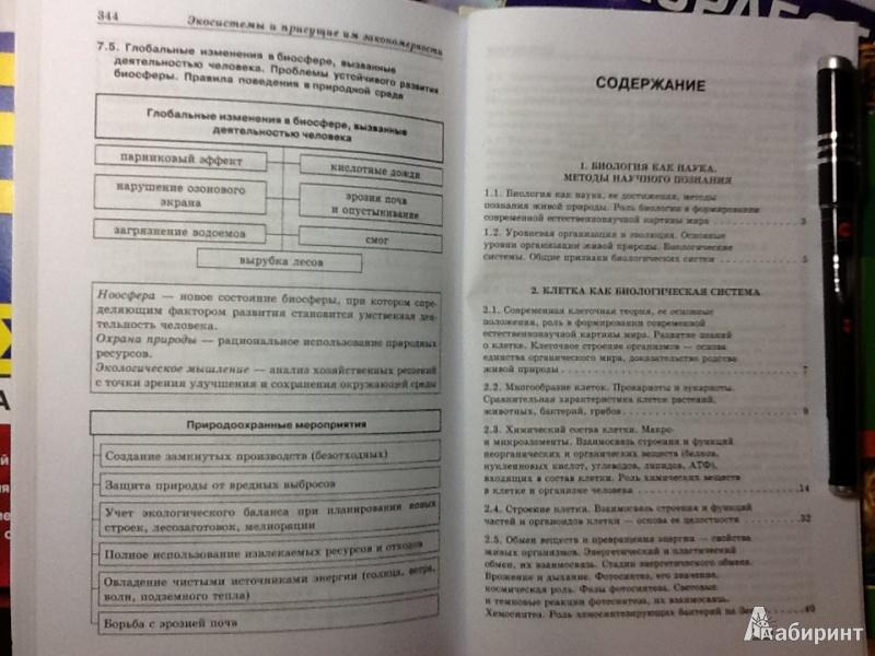 Иллюстрация 10 из 46 для биология в схемах и таблицах ионцева.