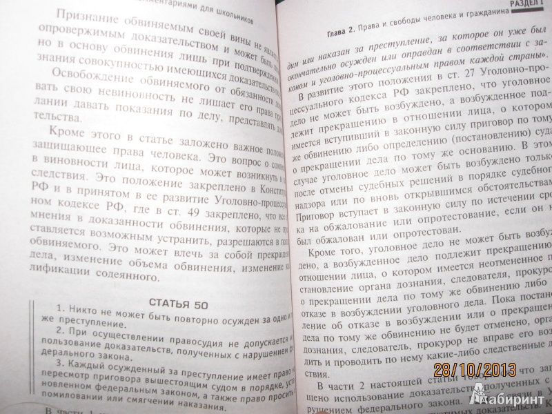 Иллюстрация 1 из 14 для Конституция Российской Федерации с комментариями для школьников - Михаил Смоленский | Лабиринт - книги. Источник: Californis