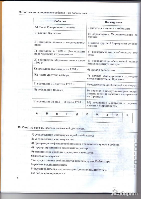 Гдз История 8 Класс Рабочая Тетрадь Пономарев