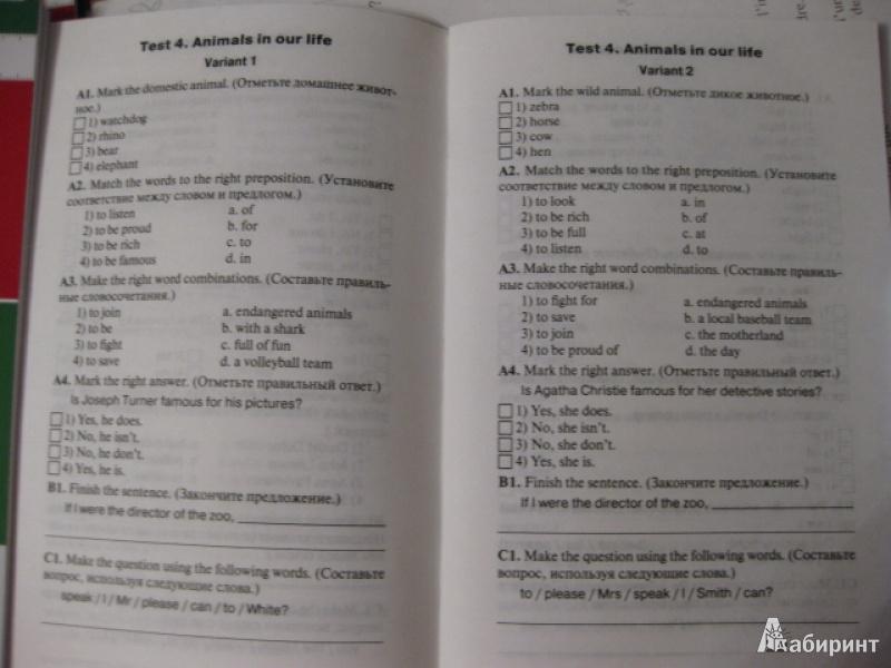 класс контрольно-измерительный языку по 6 материал решебник английскому