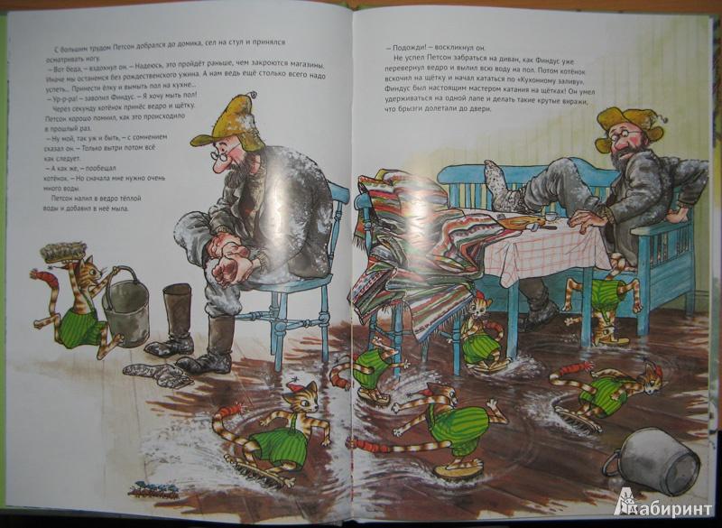 Иллюстрация 30 из 85 для Рождество в домике Петсона - Свен Нурдквист | Лабиринт - книги. Источник: Serebryany