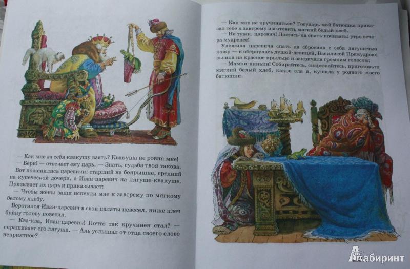 книга царевна лягушка с картинками читать обзор одних лучших