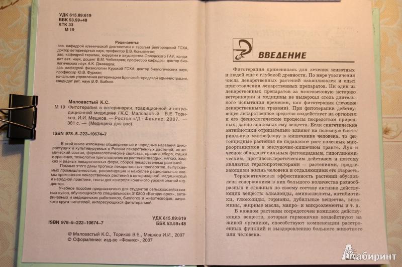 Иллюстрация 1 из 19 для Фитотерапия в ветеринарии, традиционной и нетрадиционной медицине - Маловастый, Ториков, Мешков | Лабиринт - книги. Источник: С  Т